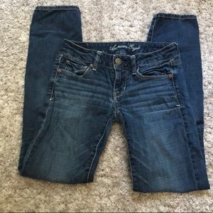 American Eagle stretch skinny jeans 2 short